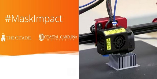 First N95 Masks Produced Using 3-D Laser Printers Delivered To the Medical University of South Carolina Hospital