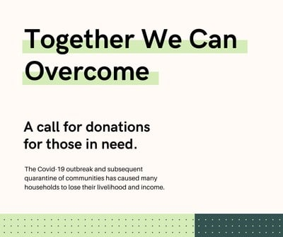 Together We Can Overcome, COVID-19
